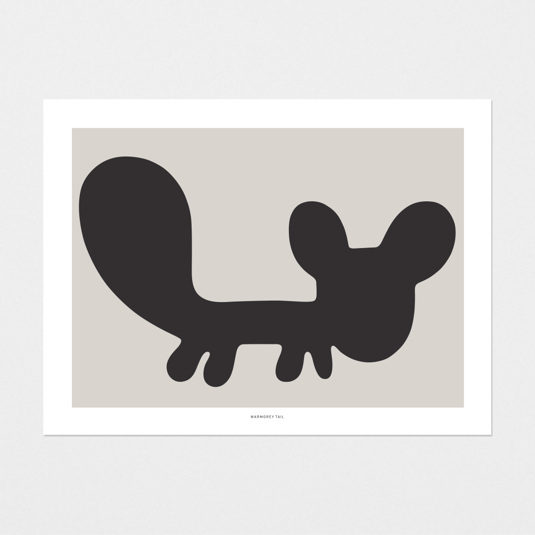 SQUIRREL-GREY POSTER