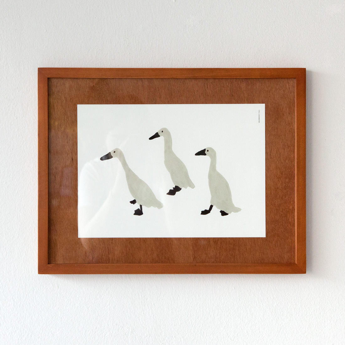 INDIAN RUNNER DUCK - Wood Mat Frame