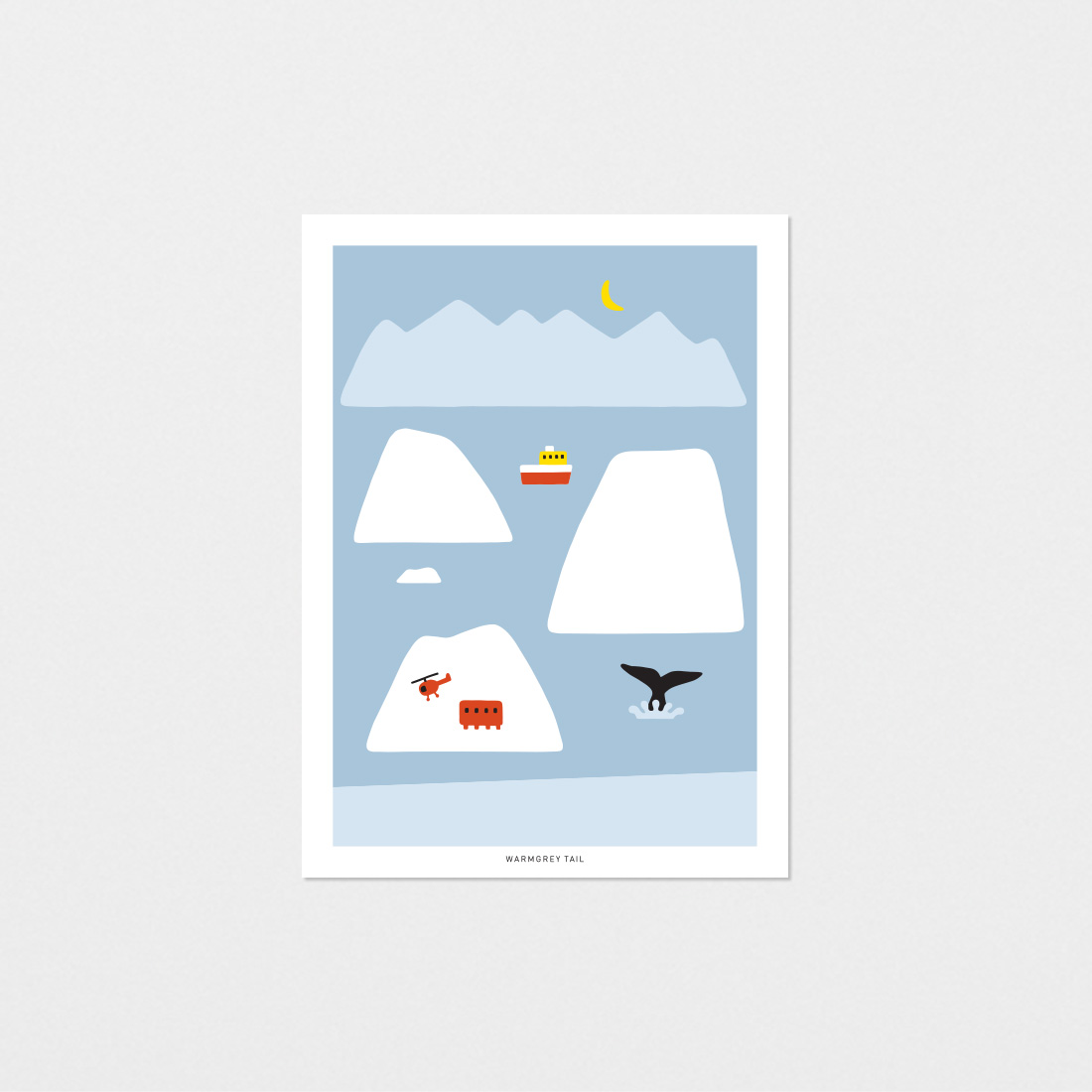 ANTARCTICA-LIGHT BLUE POSTCARD