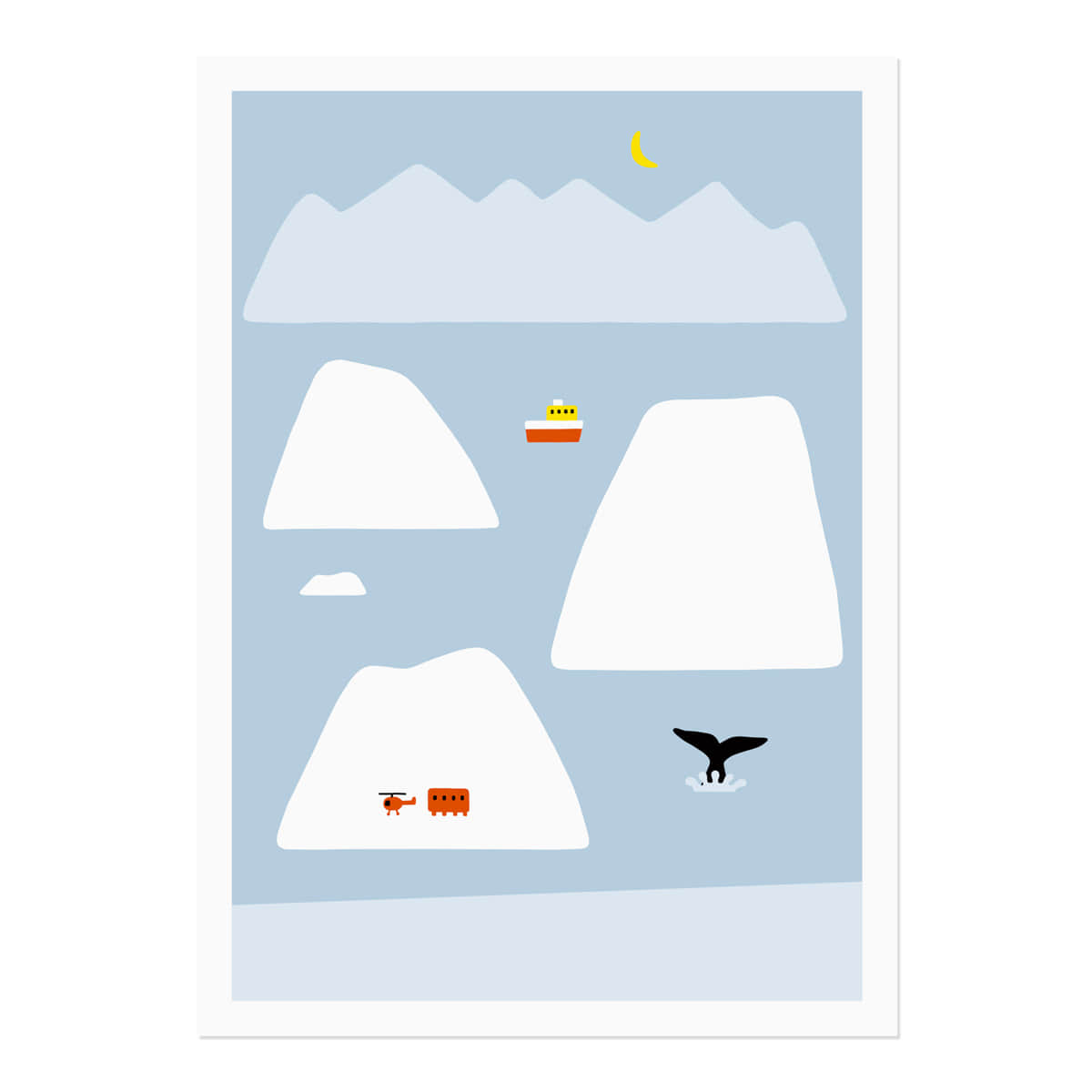 ANTARCTICA - LIGHT BLUE POSTER