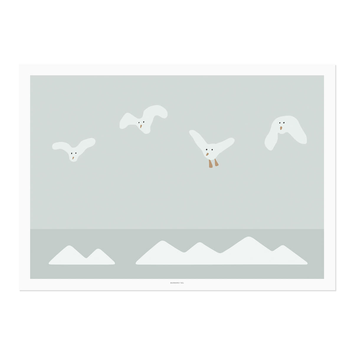 FLYING SEAGULL POSTER