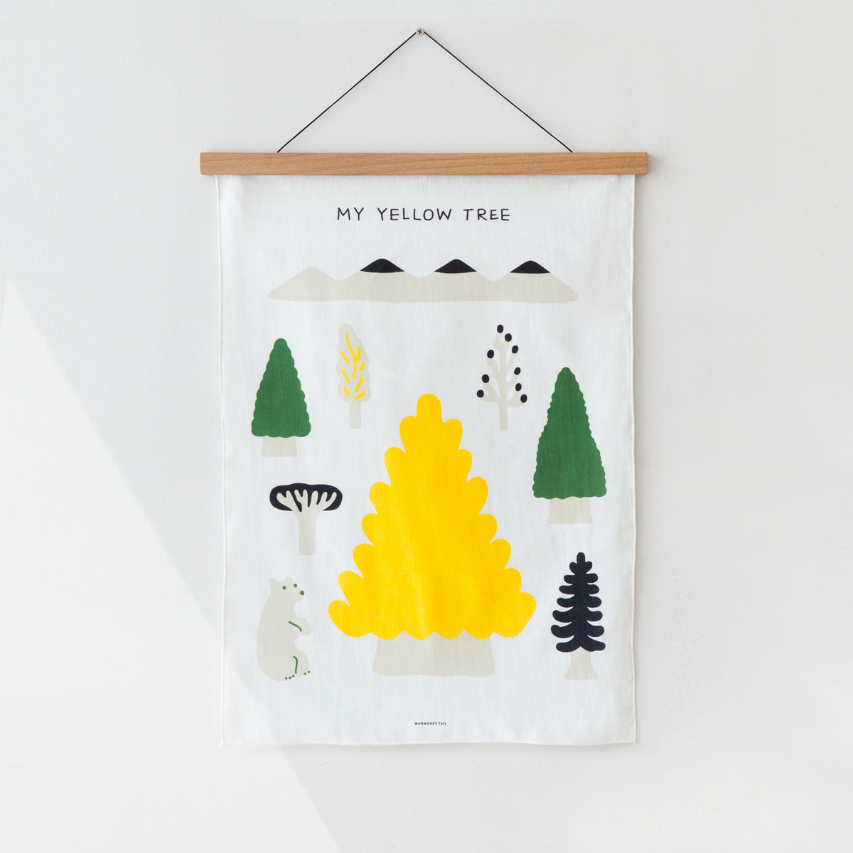 MY YELLOW TREE - BLACK FABRIC POSTER