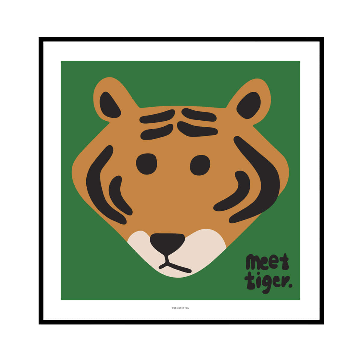MEET TIGER - GREEN POSTER