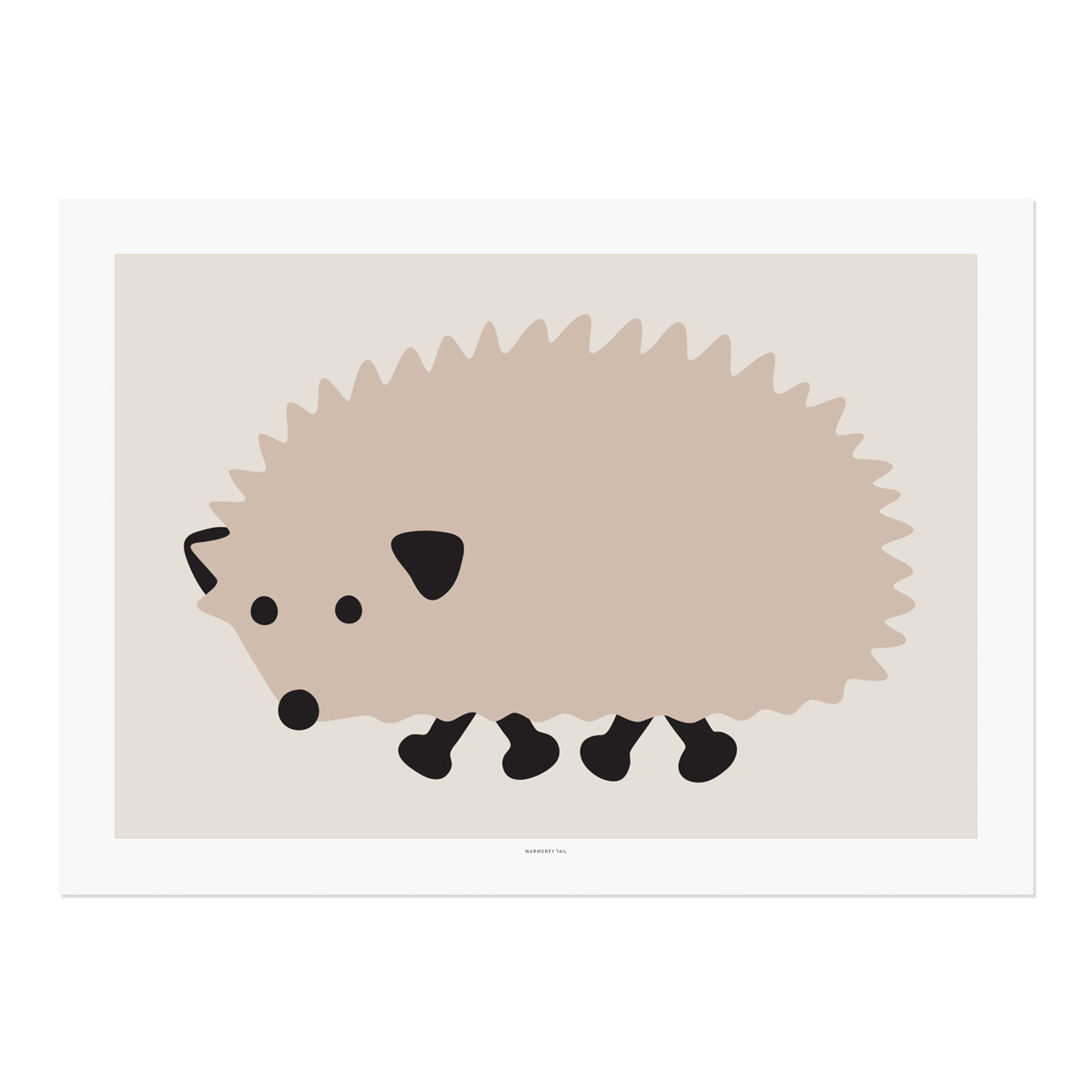 BLACK FOOT HEDGEHOG POSTER