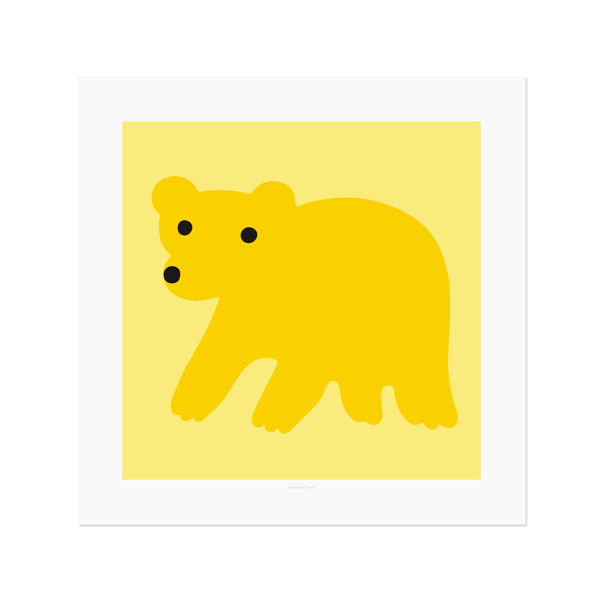 YELLOW BEAR POSTER