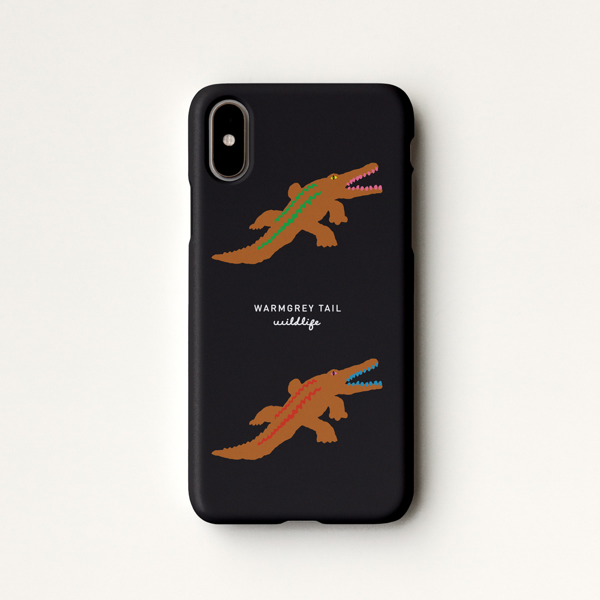 CROCODILE - BLACK PHONE CASE
