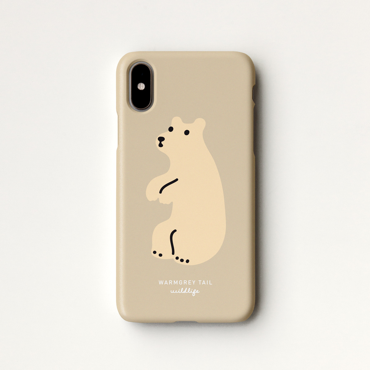 HUGGY BEAR - YELLOW BEIGE PHONE CASE
