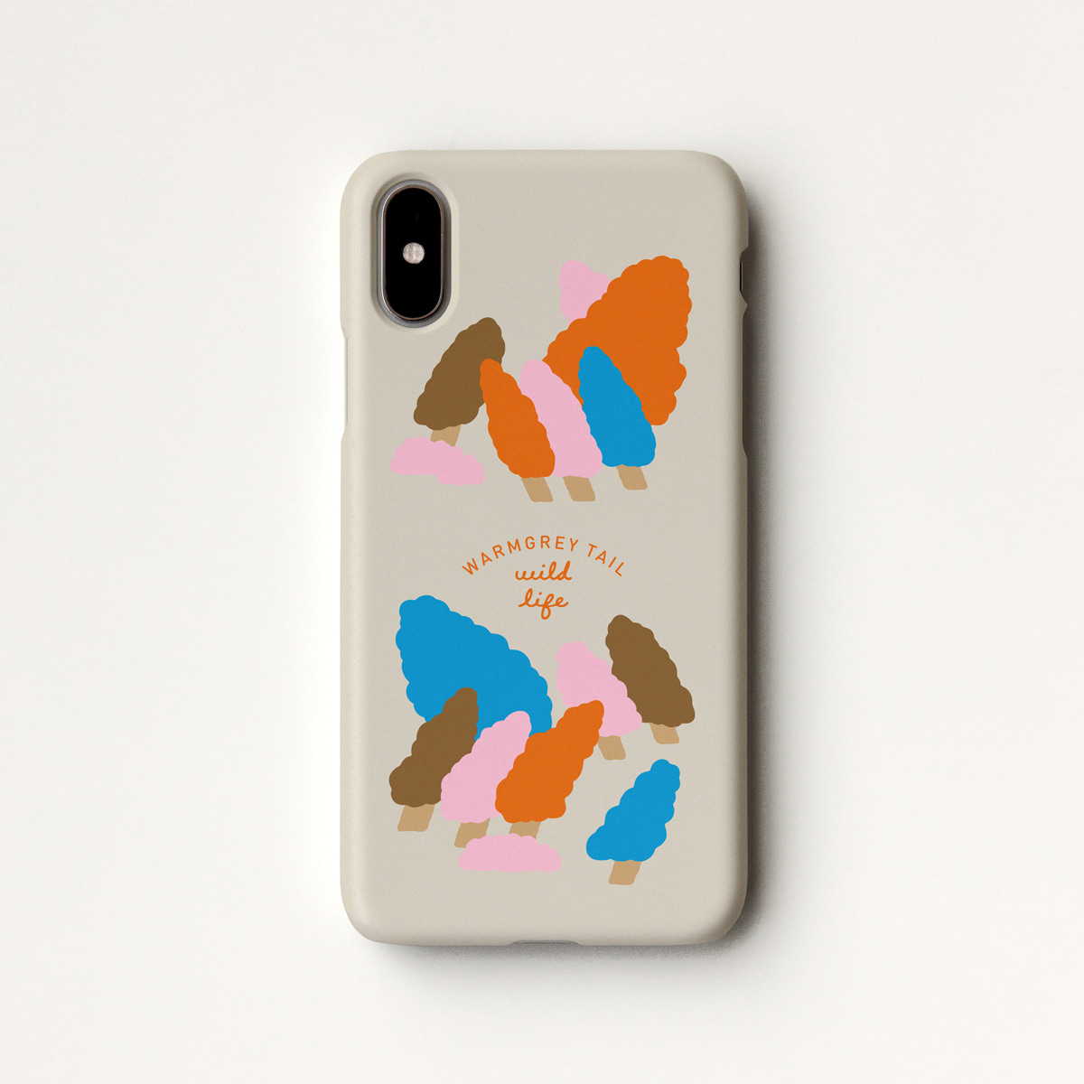 WINDY FOREST - BROWN PHONE CASE