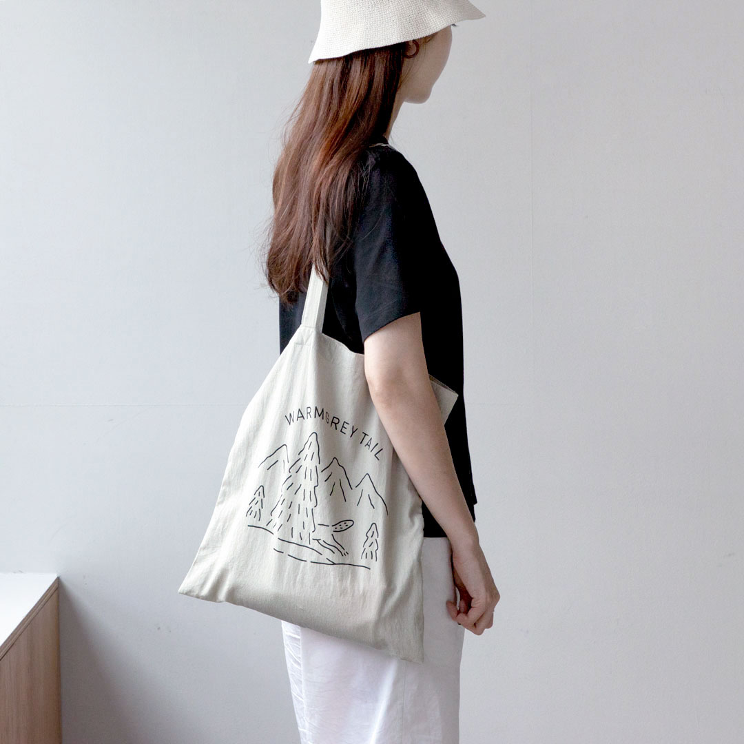 LOGO BAG - WARM GREY