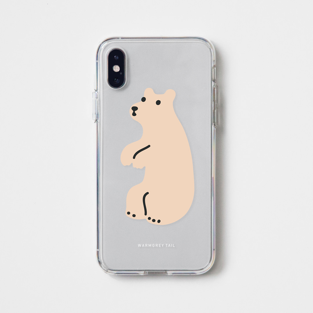 HUGGY BEAR - CREAM CLEAR CASE