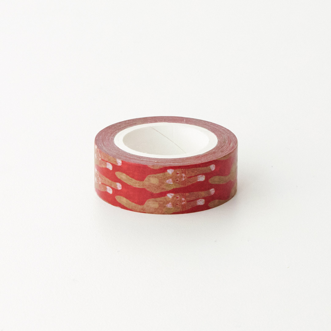 CAT COMING-RED MASKING TAPE
