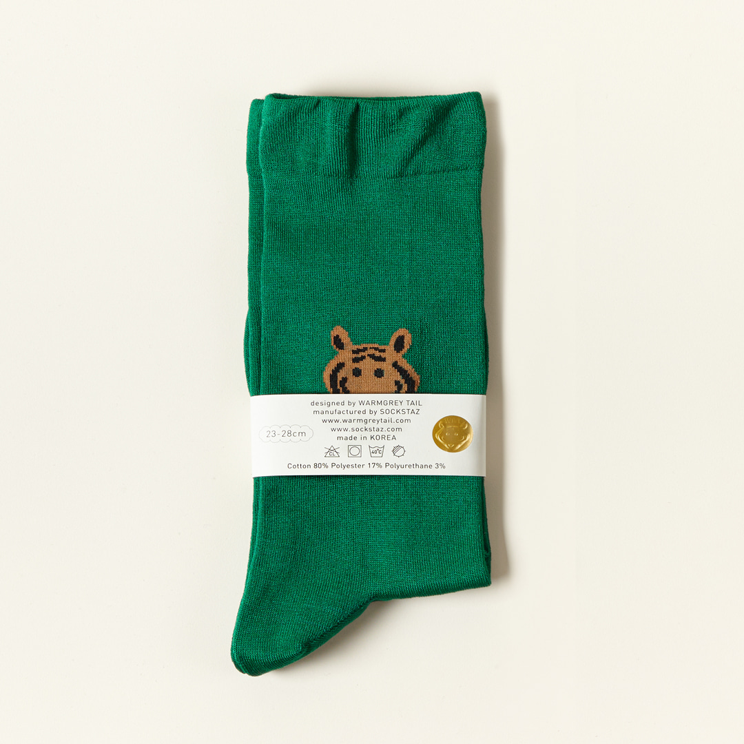 MEET TIGER - GREEN SOCKS