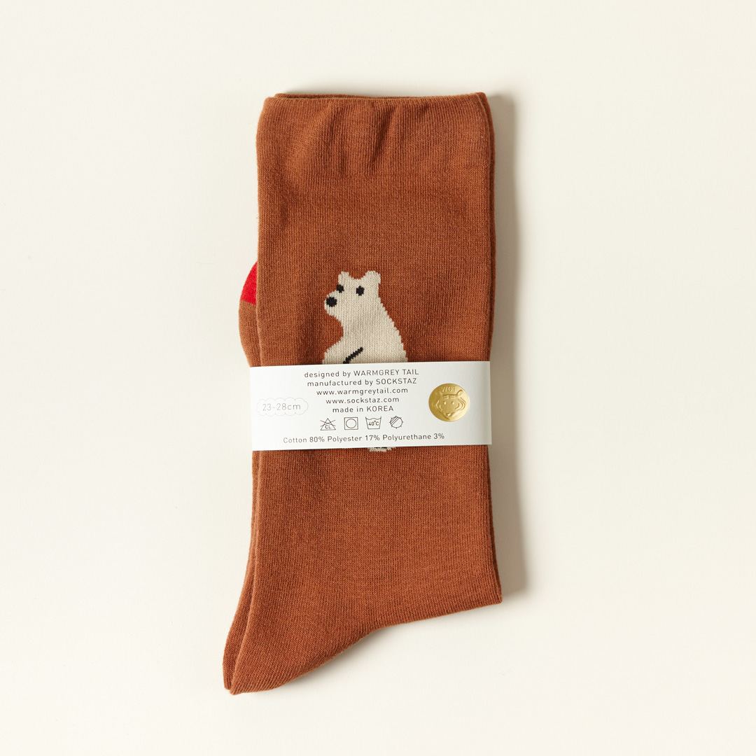HUGGY BEAR - BROWN SOCKS