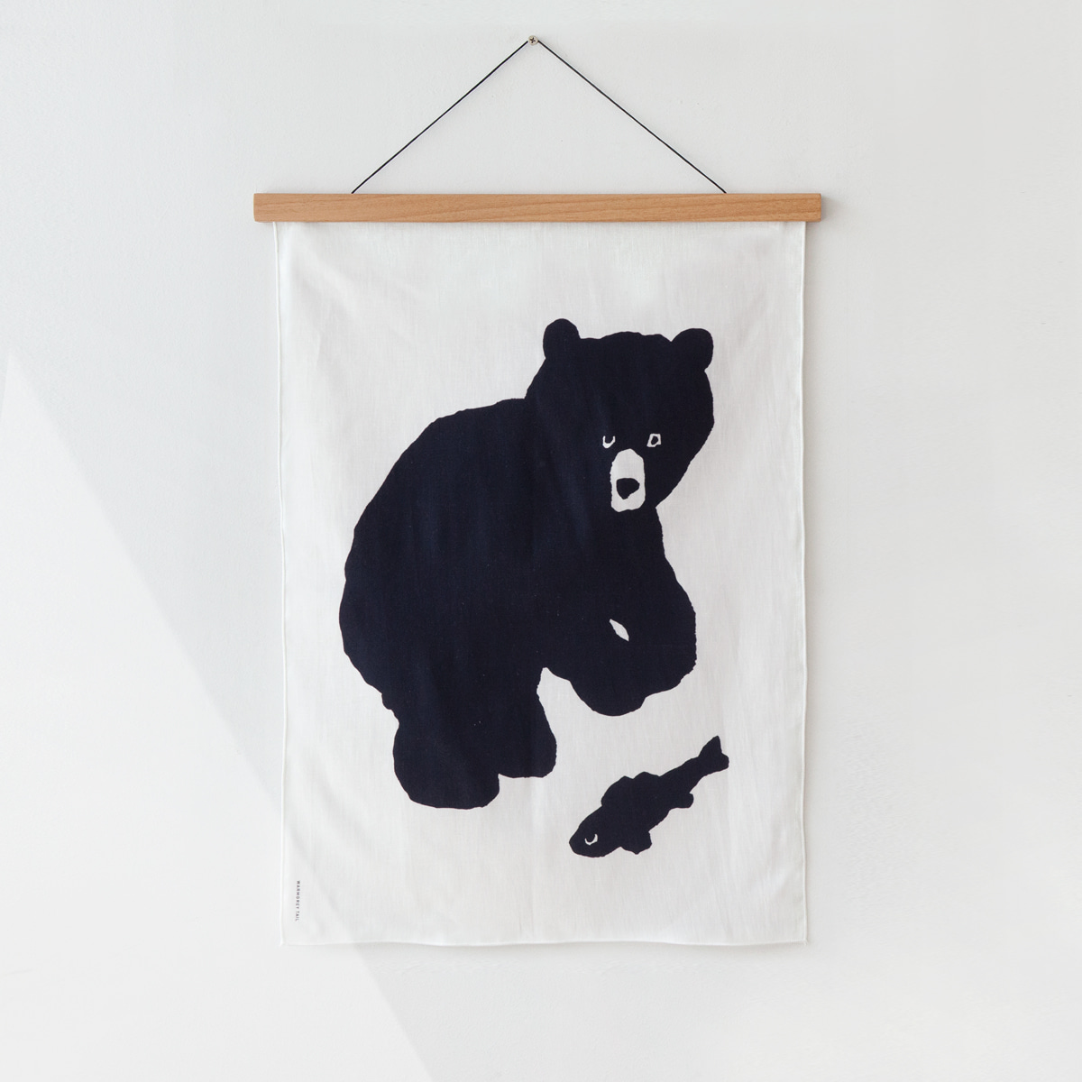 BLACK BEAR FABRIC POSTER - SMALL