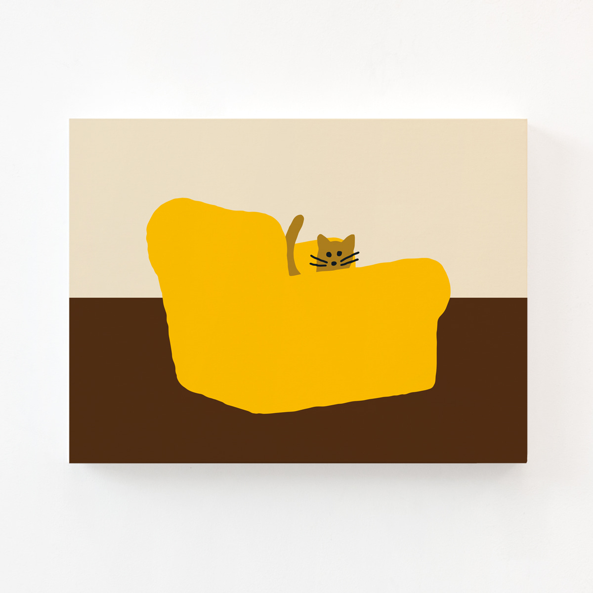 ARMCHAIR YELLOW CANVAS