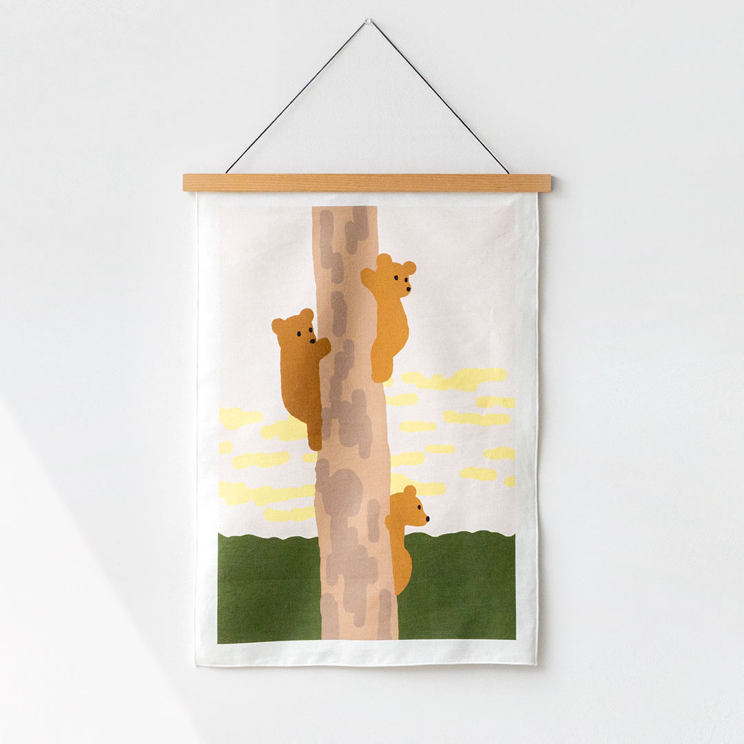 TREE&BEARS FABRIC POSTER - SMALL